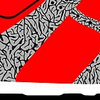 Made in China SB x Superme Red/Cement - Pop Art, Sneaker Art, Minimal by roctobot
