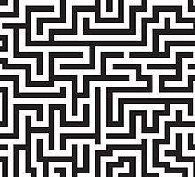 Maze Pattern by DetourShirts