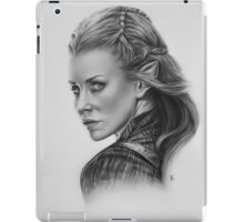 She walks in starlight in another world. iPad Case/Skin