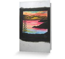 Glowing Lagoon Greeting Card