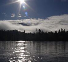 Yukon River Sunrise by Crokuslabel