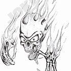 flame skull by Joker
