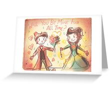 Doctor Who Valentine - Be Mine For All Time Greeting Card