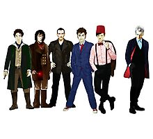 Doctor Who - The Six Doctors Photographic Print