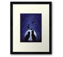 Listen to the Silence at Night Framed Print