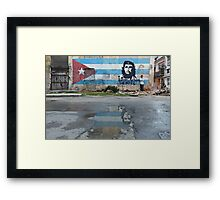 Che Guevara Mural Framed Print