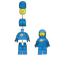 Building Benny, the blue spaceman Photographic Print