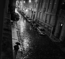 A Rainy Night in Prague by Robert Larson