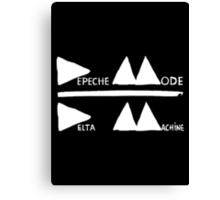 Depeche Mode : Logo Delta Machine 2013 white Canvas Print