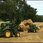 Tractors Working  by Suzanne Forbes-Murray