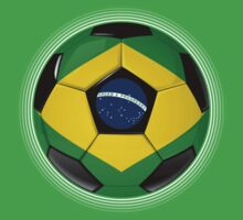 Brazil - Brazilian Flag - Football or Soccer by graphix