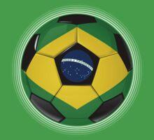 Brazil - Brazilian Flag - Football or Soccer by graphix