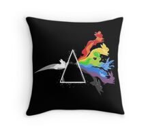 eeve's evolutions as pink floyd cd cover Throw Pillow