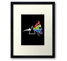 eeve's evolutions as pink floyd cd cover Framed Print