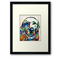 Labrador Retriever Art - Play With Me - By Sharon Cummings Framed Print
