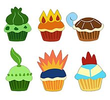 starter pokemon as cupcakes by MasterRacePC