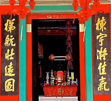 Chinese Temple Door - Kuala Lumpur, Malaysia. by Tiffany Lenoir