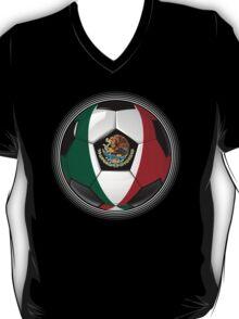 Mexico - Mexican Flag - Football or Soccer T-Shirt