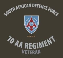 SADF 10 Anti-Aircraft Regiment / AA School Veteran T-Shirt