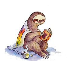 Cozy Sloth by katiecrumpton