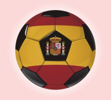 Spain - Spanish Flag - Football or Soccer Kids Clothes