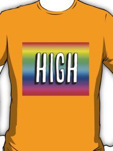 Art Print - Colourful High -Word- Typography T-Shirt