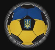 Ukraine - Ukrainian Flag - Football or Soccer by graphix