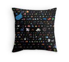 all pokemons minimalism design Throw Pillow