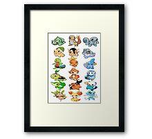 all starters pokemons Framed Print