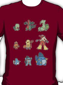 3rd gen pokemon starters cute design T-Shirt