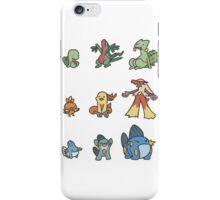 3rd gen pokemon starters cute design iPhone Case/Skin