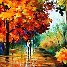 Autumn Date — Buy Now Link - www.etsy.com/listing/211930964 by Leonid  Afremov