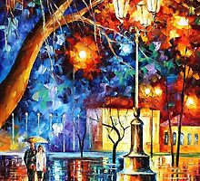 Winter Rain — Buy Now Link - www.etsy.com/listing/212225068 by Leonid  Afremov