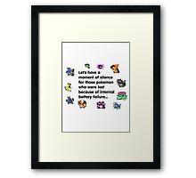 a minute of silence pokemons Framed Print