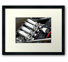 Racing Car Engine Framed Print
