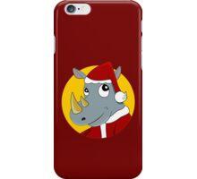 Christmas Rhinoceros  iPhone Case/Skin