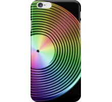 Vinyl LP Record - Metallic - Rainbow iPhone Case/Skin