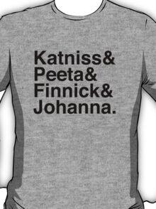 Katniss & Peeta & Finnick & Johanna. T-Shirt