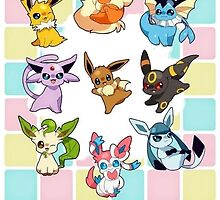 eevee friends by pokemonlover89