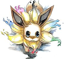 eevee with many tails evolutions by pokemonlover89