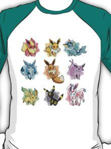 eeve's evolutions mosaic T-Shirt