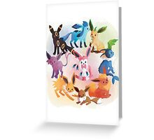 eevee cool evolutions Greeting Card