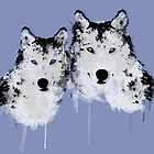 Painted Arctic Wolves by TinaGraphics