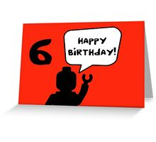 Happy 6th Birthday Greeting Card Greeting Card