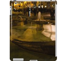 Oasis of Calm Water in the Middle of the Hustle and Bustle of the Piazza iPad Case/Skin