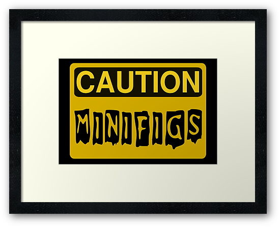 Caution Minifigs Sign, Customize My Minifig by ChilleeW