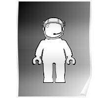 Banksy Style Astronaut Minifig, Customize My Minifig Poster