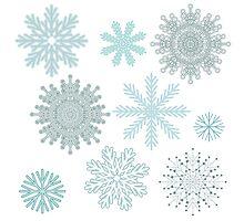 Snowflakes by JuliaBadeeva
