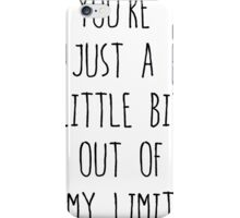 5sos Out of My Limit Lyrics iPhone Case/Skin