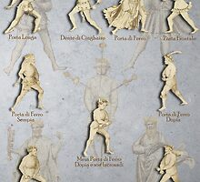 "Grappling and Dagger Positions - Fiore dei Liberi ""Getty"" by Tracy Mellow"